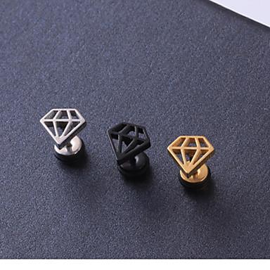 Vidali Küpeler - Titanyum Çelik Kule Kişiselleştirilmiş Siyah / Gümüş / Altın Uyumluluk Yılbaşı Hediyeleri Düğün Parti