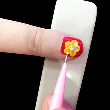 12 Stück Nagel-Kunst-Werkzeug Leicht fest und Haltbarkeit Nagel Kunst Maniküre Pediküre Natur