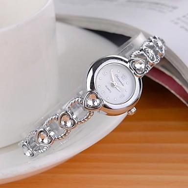 Pentru femei Ceas La Modă Quartz Aliaj Bandă Sclipici Heart Shape Argint