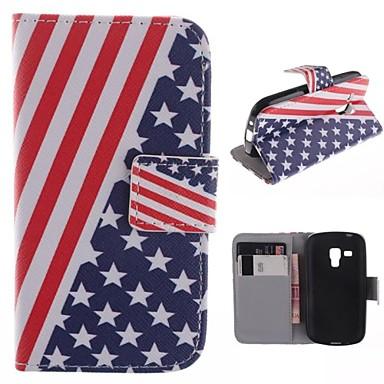 Para Samsung Galaxy Capinhas Carteira / Porta-Cartão / Com Suporte / Flip / Estampada Capinha Corpo Inteiro Capinha Bandeira Couro PU