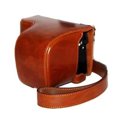 dengpin® pu leer olie huid cameratas tas te dekken met schouderband voor sony A6000 ilce-6000L a6000l nex-6