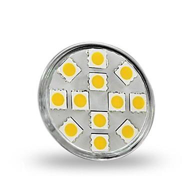 1.5 W 130-150 lm GU4(MR11) LED Σποτάκια MR11 12 LED χάντρες SMD 5050 Διακοσμητικό Θερμό Λευκό 12 V / RoHs