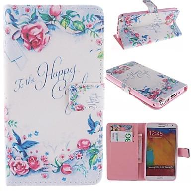 alleen mooi puur design pu full body tas met een stand met kaartslot voor Samsung Galaxy Note 3