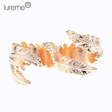 lureme®gold 도금 금속 잎 오픈 링