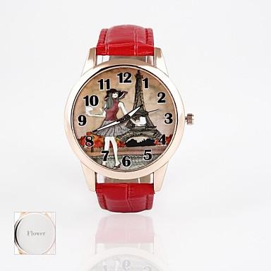 Personalisierte Geschenke Beobachten, Analog Quartz Beobachten With Metall Gehäuse-Material Leder Band Armbanduhren für den Alltag