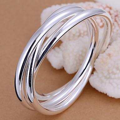 Heren Bangles Verzilverd Sieraden Bruiloft Feest Dagelijks Causaal Kostuum juwelen Zilver