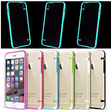 Thin Transparent Glow in Dark Crystal Clear Hard TPU Case for iPhone 6 (Assorted color)