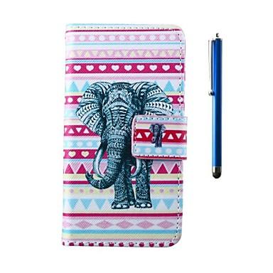 Para Capinha HTC Carteira / Porta-Cartão / Com Suporte / Flip Capinha Corpo Inteiro Capinha Elefante Rígida Couro PU HTC