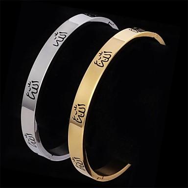 Damen Manschetten-Armbänder - Edelstahl, vergoldet Armbänder Weiß / Golden Für Hochzeit Party Alltag