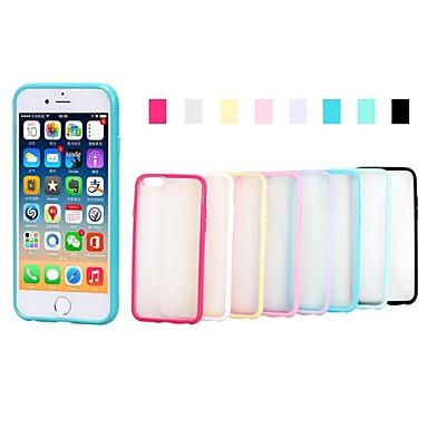 Capinha Para iPhone 6s Plus iPhone 6 Plus iPhone 6s iPhone 6 iPhone 6 iPhone 6 Plus Ultra-Fina Áspero Translúcido Capa traseira Côr Sólida