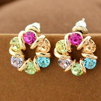 kleurrijke Tsjechische diamanten oorbellen