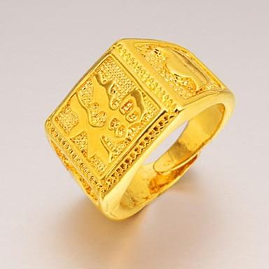 Herrn Statement-Ring - vergoldet Einzigartiges Design, Modisch 9 Für Hochzeit Party Alltag