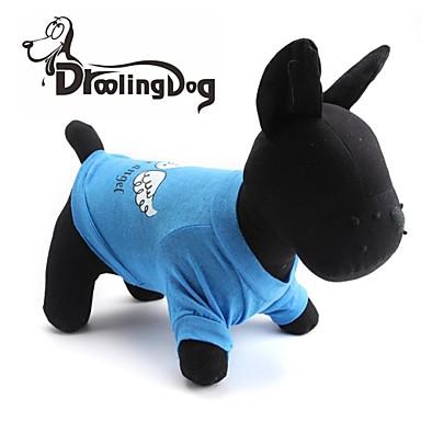 Gatos / Cães Camiseta Verde / Azul / Púrpura / Rosa Roupas para Cães Primavera/Outono Anjo e Diabo