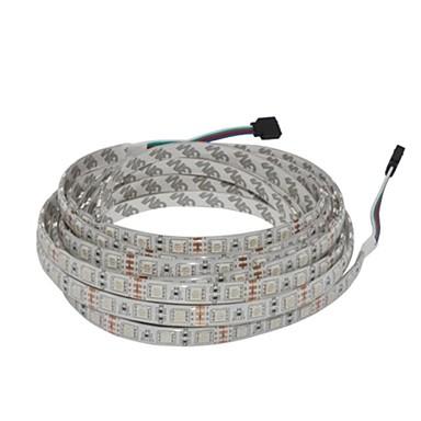 5m RGB Şerit Işıklar 300 LED'ler Sıcak Beyaz / RGB / Beyaz Su Geçirmez 12V