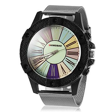 Homens Único Criativo relógio Relógio Elegante Quartzo Relógio Casual Aço Inoxidável Banda Amuleto Prata