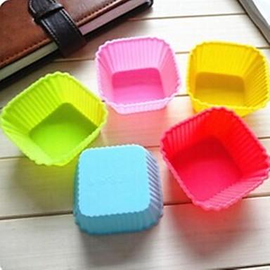 7cm vierkante cakevorm ijs gelei chocoladevorm, siliconen 7 × 7 × 3,3 cm (2,8 × 2,8 × 1,3 inch)