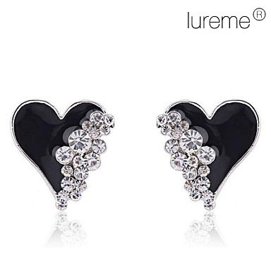 여성용 스터드 귀걸이 러브 하트 크리스탈 모조 다이아몬드 합금 하트 보석류 일상 의상 보석