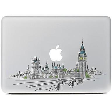 de stad ontwerp decoratieve huid sticker voor macbook air / pro / pro met retina-display