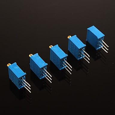 3296w potențiometru 3-pini rezistență reglabil - 100ohm (5pcs)