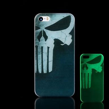 Para Capinha iPhone 5 Brilha no Escuro Capinha Capa Traseira Capinha Caveira Rígida PC iPhone SE/5s/5