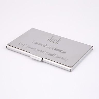 titular do cartão de negócio de aço inoxidável gravado personalizado