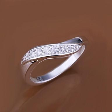 Anéis Casamento / Pesta / Diário / Casual Jóias Prata Chapeada Feminino Anéis Statement7 / 8 Prateado