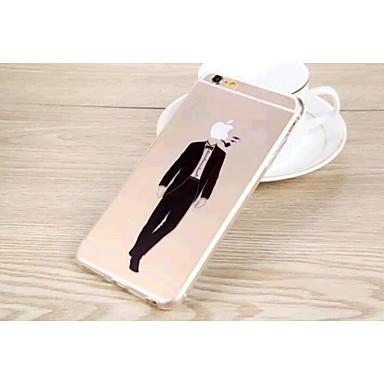gofo homem forma TPU tampa da caixa traseira transparente para iphone 6 mais (cores sortidas)