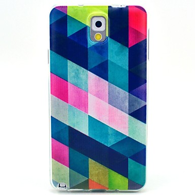 cheap Galaxy Note 3 Cases / Covers-Case For Samsung Galaxy Note 3 Pattern Back Cover Geometric Pattern TPU
