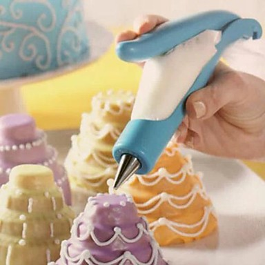 coole diy cake botermond blauwe kleur creatieve hoogwaardige bakvormen