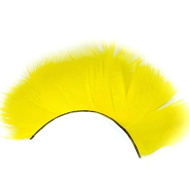 dicke gelbe Feder Karneval Wimpern