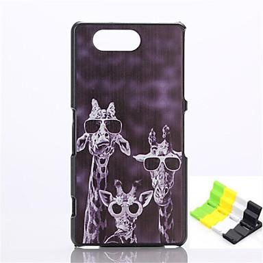 giraffe patroon pc hard geval en telefoon houder voor de Sony Xperia Z3 compact / z3 mini