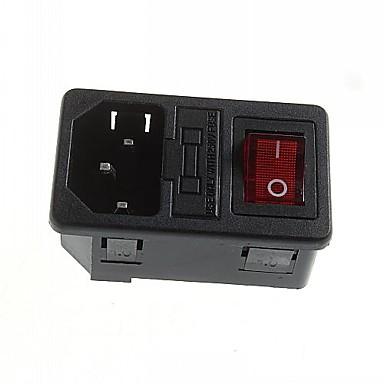 DIY 3-pin υποδοχή ασφάλειας πρίζα 10α / 250V εναλλασσόμενου ρεύματος με το δείκτη