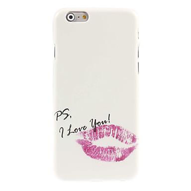 rode lip ontwerp harde case voor iPhone 6