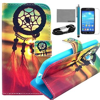 Για Θήκη καρτών / Πορτοφόλι / με βάση στήριξης / Ανοιγόμενη / Με σχέδια tok Πλήρης κάλυψη tok Ονειροπαγίδα Σκληρή Συνθετικό δέρμα Samsung
