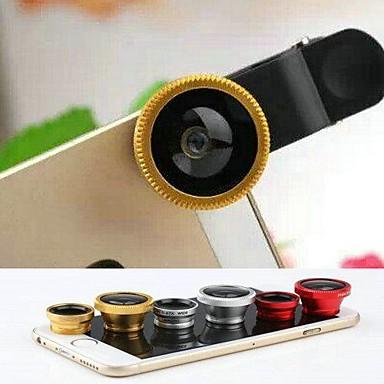 3 em 1 fisheye e lente macro e 0.67x grande angular com tampa da lente e saco para iPhone 4 / 4S / 5 / 5s / 6/6 mais