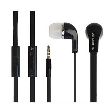 In Ear Wired Headphones Plastic Gaming Earphone with Volume Control with Microphone Noise-isolating Headset