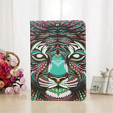 koning van het bos serie patroon pu lederen tas met standaard en kaartsleuf voor iPad lucht