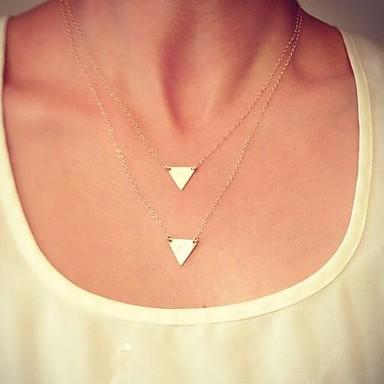 Kadın's Katmanlı Takı Seti / Zincir Kolyeler / katmanlı Kolyeler - Avrupa, minimalist tarzı, Moda Altın Kolyeler Mücevher Uyumluluk Günlük