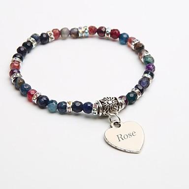 gepersonaliseerde gift natuursteen armband kristal streng armbanden toermalijn zwart voor kinderen