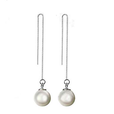 Dames Druppel oorbellen Kostuum juwelen Parel Sterling zilver Sieraden Voor
