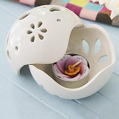Borboleta branca titular tailândia cerâmica da vela grande