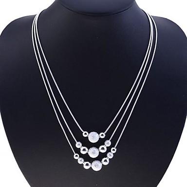 Kadın's Iplikçik kolye - Som Gümüş, Gümüş Yılan Bayan, Moda Gümüş Kolyeler Mücevher Uyumluluk Parti, Günlük
