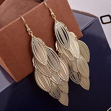 Dames Druppel oorbellen - Meerlaags Goud Zilver oorbellen Voor