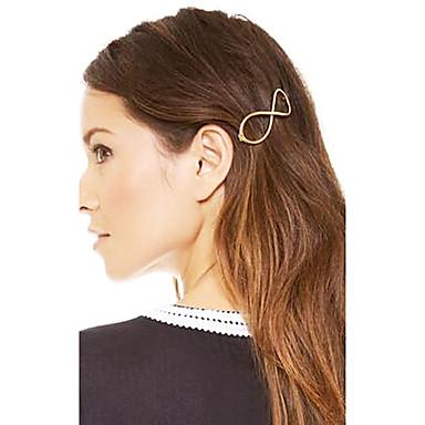 shixin® vintage nummer 8 lichtmetalen haarspeldjes voor vrouwen (gouden) (1 st)