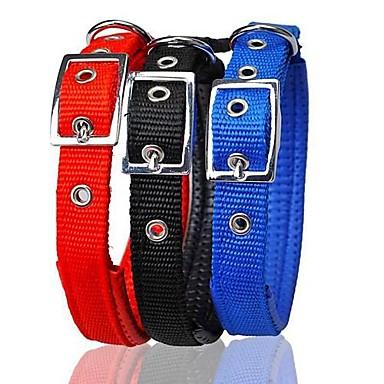 Hond Kraag Verstelbaar / Uitschuifbaar Nylon Zwart Rood Blauw
