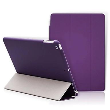 Για Θήκες Καλύμματα με βάση στήριξης Οριγκάμι Πλήρης κάλυψη tok Συμπαγές Χρώμα Σκληρή PU Δέρμα για Apple iPad (2017) iPad Pro 9.7 '' iPad