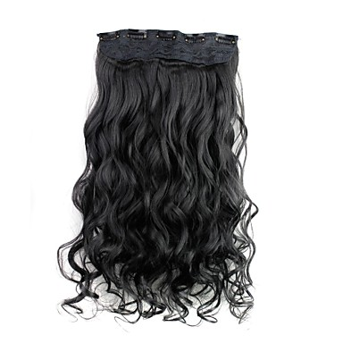 22 inch Synthetic Hair Hair Extension Curly Classic Clip In/On Daily High Quality Women's Women