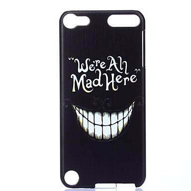 tanden patroon pc hard cover case voor itouch 5 ipod cases / covers