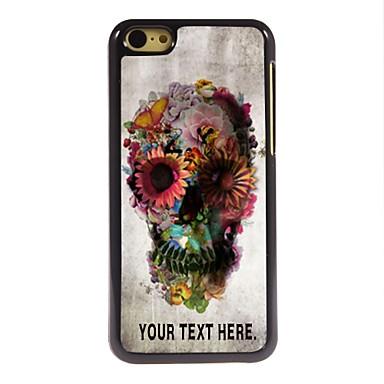 gepersonaliseerd geval schedel en bloem ontwerp metalen behuizing voor de iPhone 5c