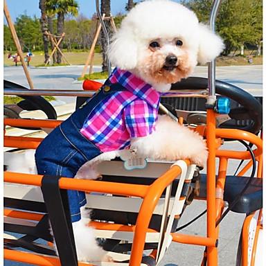 Cachorro Fantasias Macacão Roupas para Cães Jeans Rosa Verde Algodão Ocasiões Especiais Para animais de estimação Homens Mulheres Casual